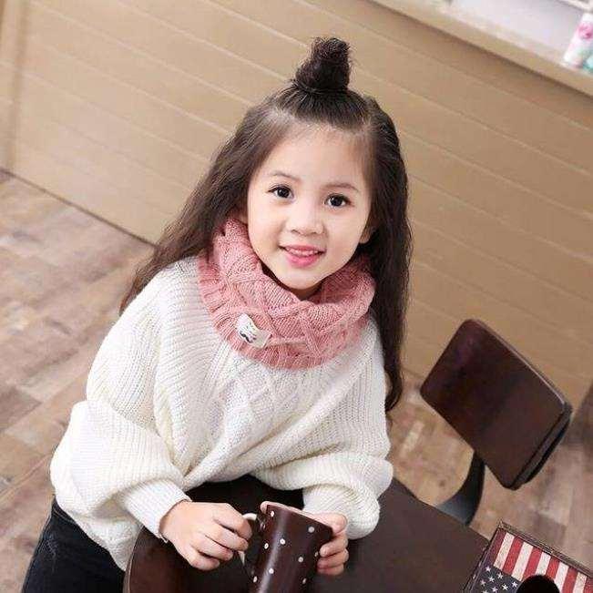 Giá bán [HOT HIT] Khăn len quàng cổ cho bé- khăn len ống quàng cổ mùa đông cho bé (Giao màu ngẫu nhiên)