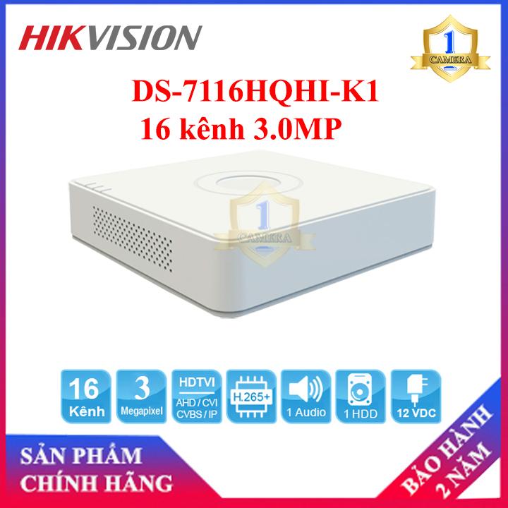 Đầu ghi Camera TVI HIKVISION DS-7116HQHI-K1 16 kênh 3.0MP