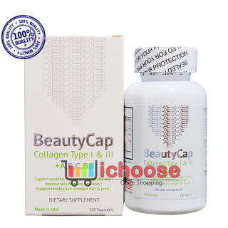 Collagen Beauty Cap hàng Mỹ bổ sung Vitamin +A E C B5, Collagen Type 1&3 thumbnail