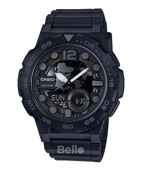 Đồng hồ Casio Nam AEQ-100W-1B bảo hành chính hãng 1 năm - Pin trọn đời