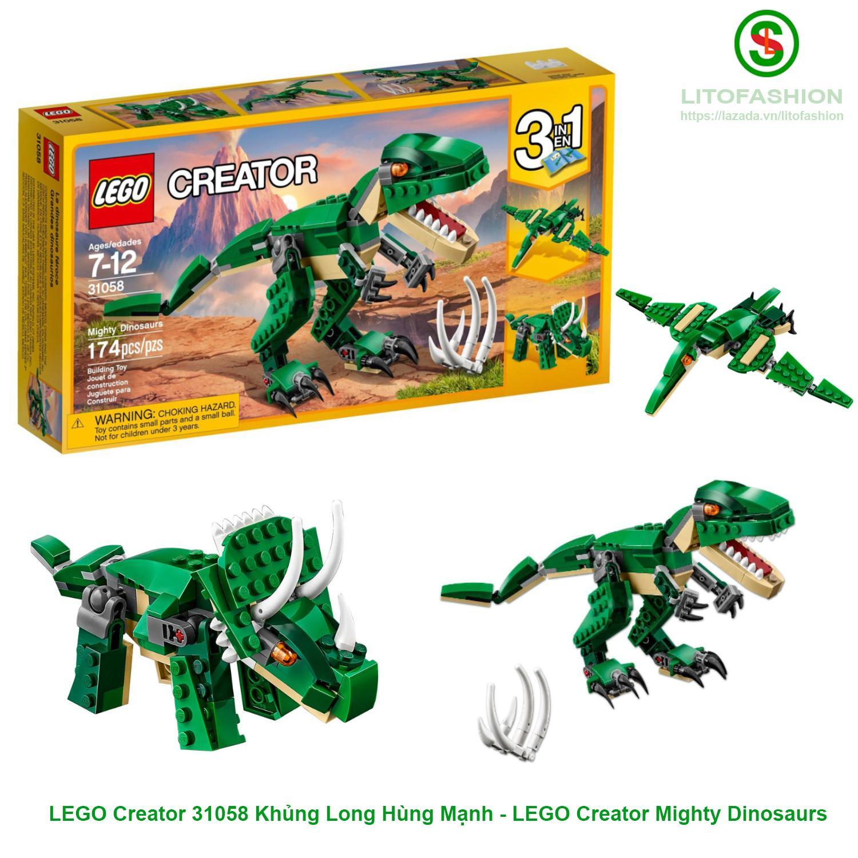 LEGO Creator 31058 Khủng Long Hùng Mạnh 3IN1 - LEGO Creator Mighty Dinosaurs Giá Hot Siêu Giảm tại Lazada