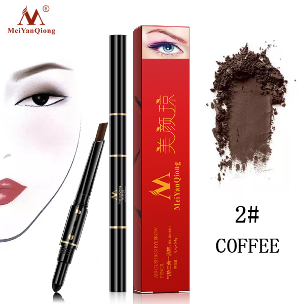 MeiYanQiong Air Cushion Triad Eyebrow Pencil Waterproof Longlasting Triangle Natural Make Up Eye Brow Liner With Brush Makeup Tools 3in1 tốt nhất