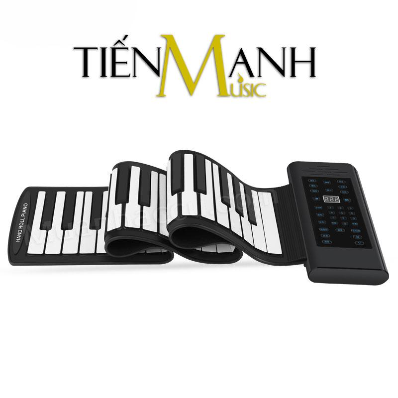 Đàn Piano Konix 61 phím cuộn mềm dẻo Flexible PB61 (Roll Up Piano - Pin sạc 1000mAh - Midi Keyboard Controller)