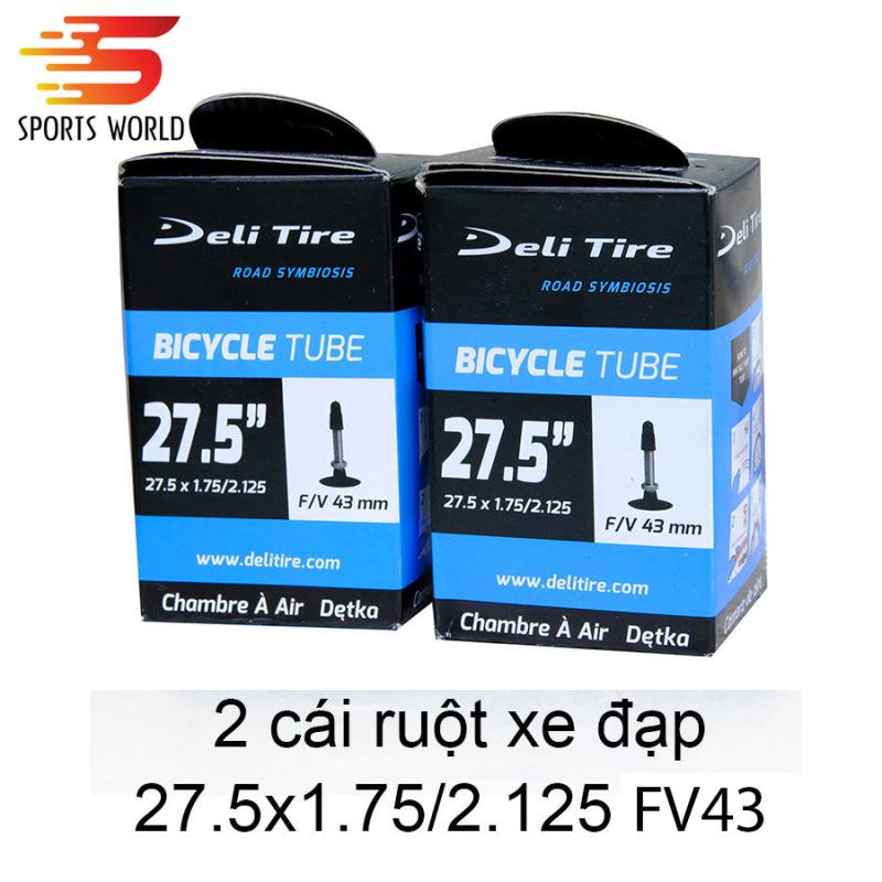 Mua Săm ruột xe đạp 27.5x1.75 van Pháp  FV43mm - Deli Tire - cặp 2 cái