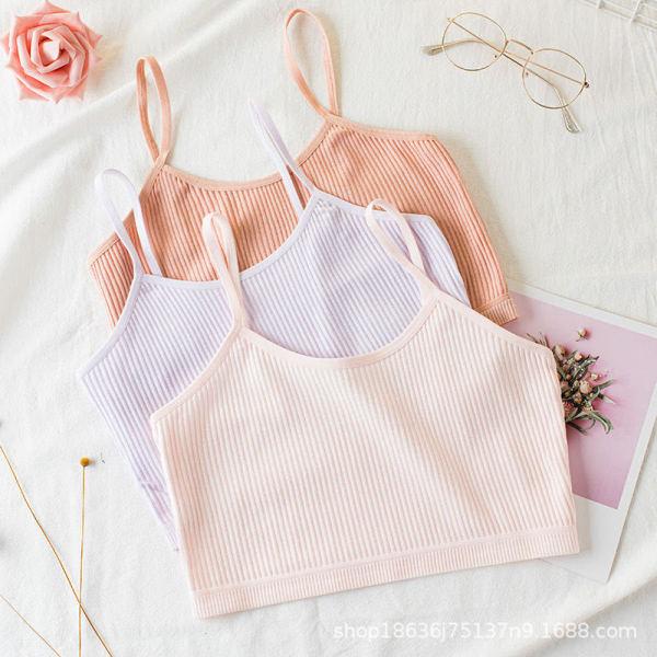 Giá bán Bộ 3 áo lót cotton nữ mềm mại cho bé gái - Ao lot hoc sinh nu mem mai