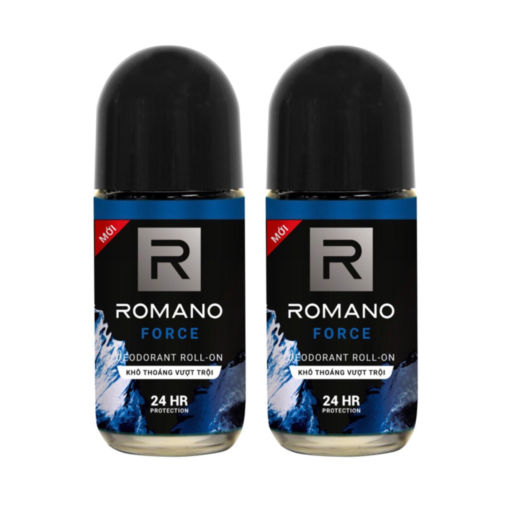 Combo 2 lăn khử mùi Romano Froce 50ml (50ml x2) cao cấp