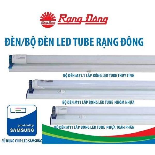 Bộ Đèn LED Tube (Tuýp) T8 18W Rạng Đông Cao Cấp, ChipLED Samsung, 120cm