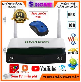 Android TV box Kiwi S2 RAM 1 ROM 8G kiwibox S2 Tặng kèm Chuột không dây  truyền hình miễn phí  cập nhập full các ứng dụng