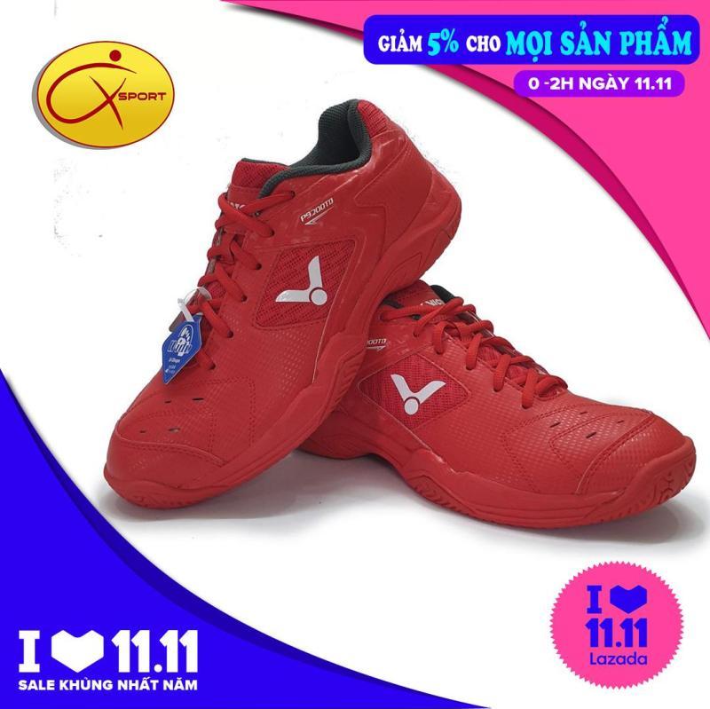 Giày thể thao nam Giày bóng chuyền nam Giày cầu lông nam đế kếp chống trơn chống trượt ôm chân Victor P9200 màu đỏ