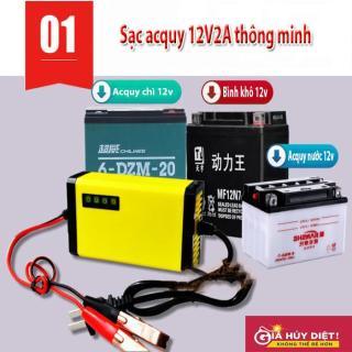 Bộ sạc bình acquy 12v 2A thông minh-Mạch nạp ắc quy tự ngắt- Sử dụng dễ dàng, tiện lợi- Hàng chính hãng- Giao hàng toàn quốc- Bảo hành toàn quốc thumbnail