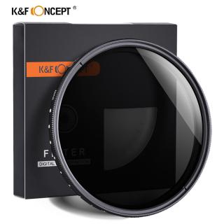K&F Kính lọc điều chỉnh mật độ trung tính ND2 đến ND400 cho ống kính máy ảnh - INTL thumbnail