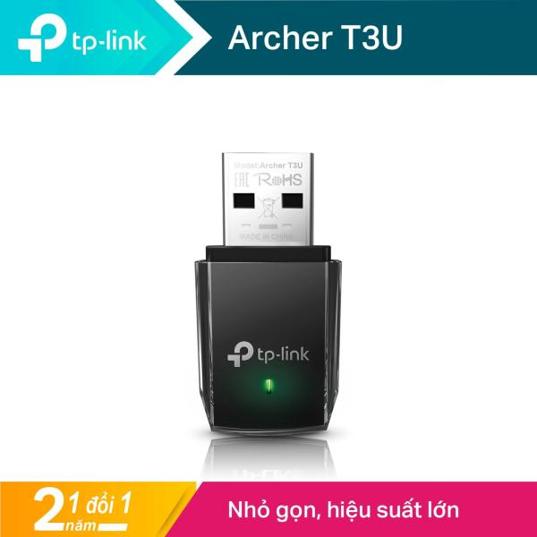 Bảng giá TP-Link Bộ Chuyển Đổi USB MU-MIMO Không Dây Mini AC1300 Archer T3U Phong Vũ