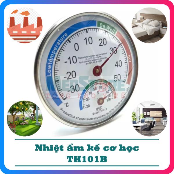 Nhiệt Ẩm Kế Cơ Học Thermometer TH101B - Thiết Bị Chuyên Dụng Để Đo Độ Ẩm Và Nhiệt Độ - TBYT Medstore bán chạy