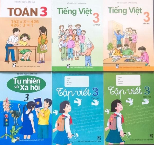 Bộ sách giáo khoa lớp 3 - gồm 6 quyển