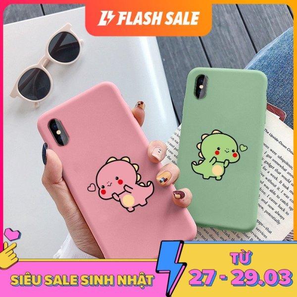ỐP LƯNG iPhone KHỦNG LONG BÚNG TIM CHO CÁC LOẠI IPHONE 6 6s 7 8 plus x xs xr 11 PRO MAX (a108)