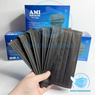 Khẩu trang Ami 4 lớp màu đen hộp 50 cái thumbnail
