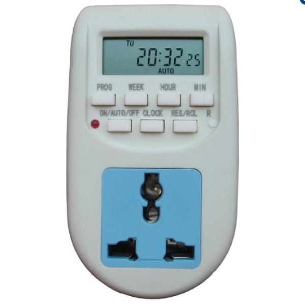Ổ cắm hẹn giờ điện tử bật tắt tự động AL-06, ổ cắm điện đa năng, công tắc hẹn giờ - AL06-1