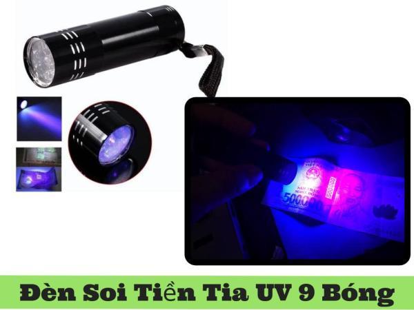 Đèn UV Soi Tiền, Đèn Sấy Keo UV Led 9 Bóng 3W