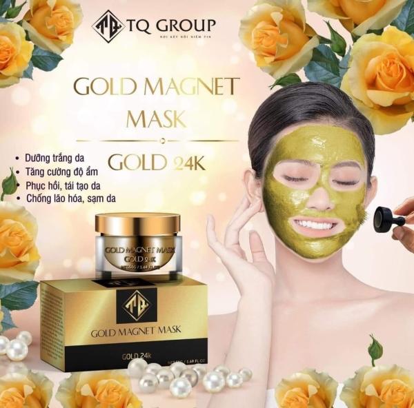 MẶT NẠ TỪ TÍNH VÀNG GOLD 24k MẶT NẠ GOLD MAGNET MASK GOLD 24K [ tặng kèm CAO MỤN SÂM VÀNG + NAM CHÂM ] cao cấp