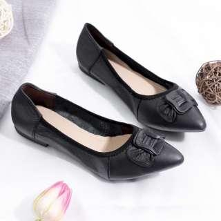Giày Búp Bê Mũi Nhọn Gắn Nơ Pixie P126
