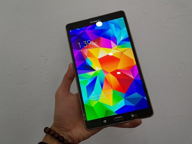 Playmobile Bảo Hành 12 Tháng Máy tính bảng Samsung Galaxy Tab S    Màn hình 8.4inch 2K - Ram 3/16GB    Vân tay 1 chạm - Tặng kèm sạc cáp nhanh và ốp lưng chính hãng