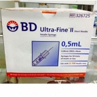 (Bơm) Kim tiêm tiểu đường BD 0,5 Ml hộp 100 chiếc thumbnail