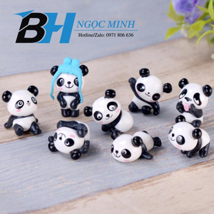 Phụ kiện tiểu cảnh - Gấu panda con, giá của 8 con, mẫu mã ngẫu nhiên