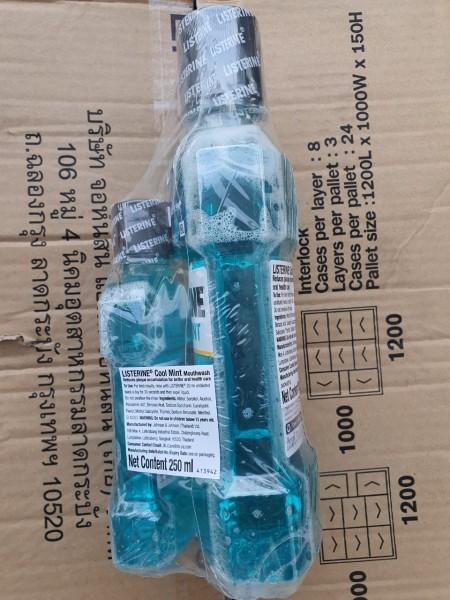 Combo 2 chai nước xúc miệng listerine cool mint thái lan 750 ml và 250 ml