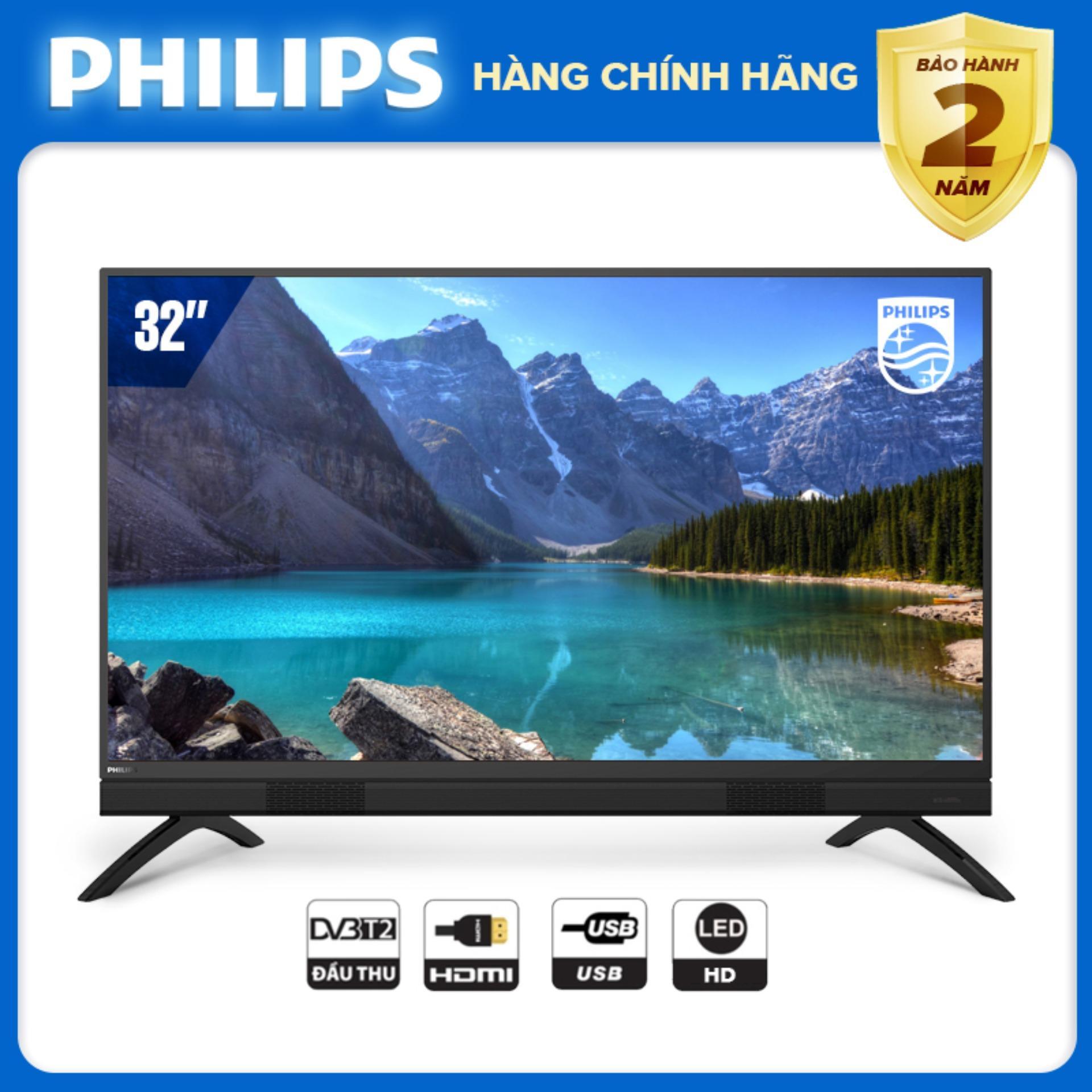 Bảng giá TIVI PHILIPS 32 INCH LED HD Digital TV DVB-T2 - hàng Thái Lan - Bảo hành 2 năm tại nhà - Hàng chính hãng giấy tờ đầy đủ - 32PHT5583/74 Tivi Philips