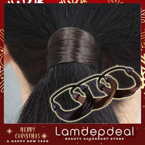 Bím tóc giả nhiều màu sắc - phụ kiện tóc giá rẻ - Lavy Store cao cấp
