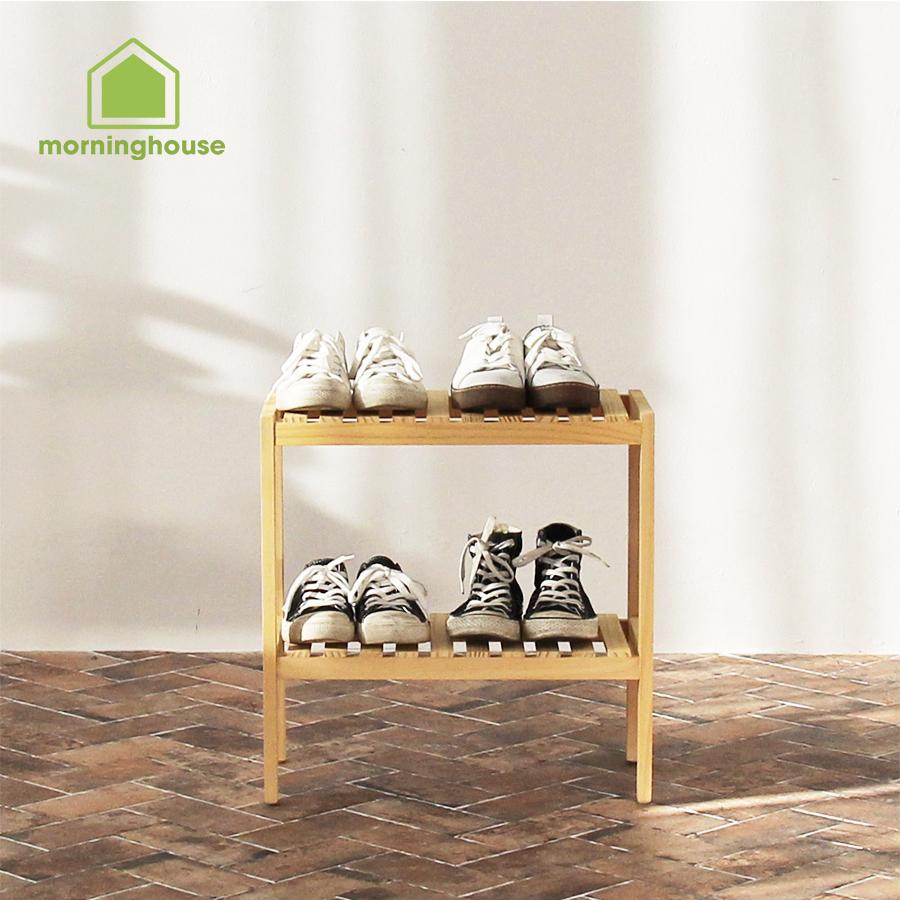 [HCM]Kệ giày dép gỗ Morning House 2 tầng -2T500 Gỗ thông nhập khẩu Newzealand giúp căn nhà thêm gọn gàng sạch sẽ tiện lợi hài hòa
