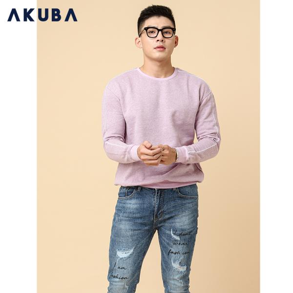 AKUBA Áo Sweater Nam Sọc Tay Hàn Quốc 2780