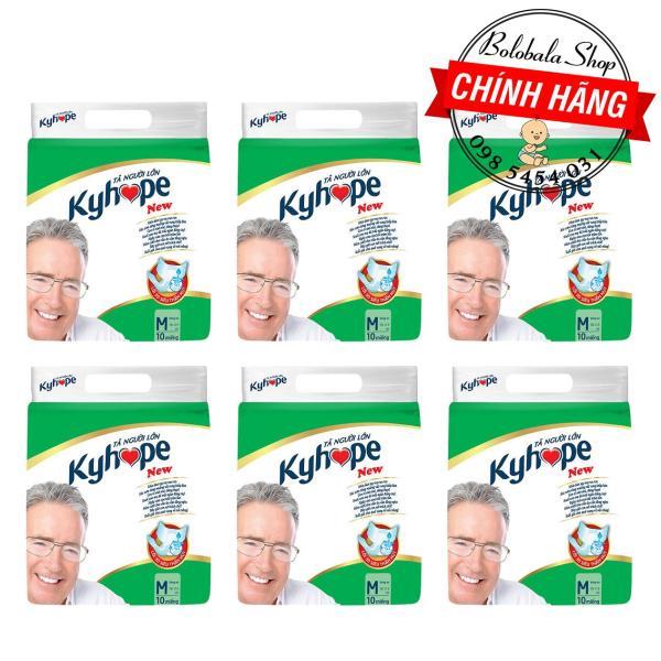 Combo 6 gói Tã dán người già Kyhope Safeguard M10, L/XL10