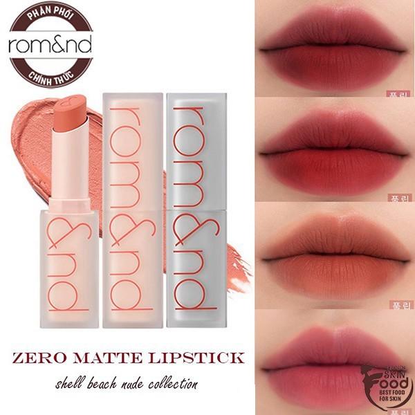 [New][Shell Beach Nude Collection] Son thỏi lì Romand New Zero Matte Lipstick 3g
