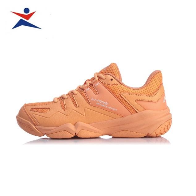 Giày cầu lông nữ AYTQ008-3 mẫu mới, êm ái thoáng khí, màu cam da, đủ size - Giày chơi cầu lông - giầy đánh bóng chuyền - Sportmaster giá rẻ