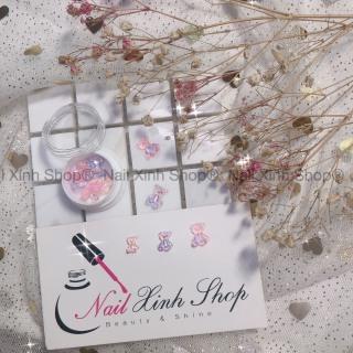 Trang trí móng nail - 1 charm con gấu hoặc bướm nơ charm hot nail 2020 thumbnail