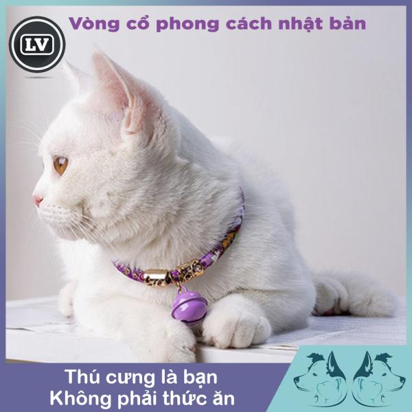 Vòng Cổ Thú Cưng Phong Cách Nhật Bản Có Thể Điều Chỉnh Nhẫn Đeo Cổ Mèo Phong Cách Retro Phụ Kiện Chó Mèo Thú Cưng Có Chuông, 29-36Cm