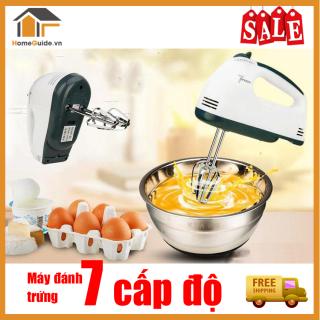 Máy nhồi bột, đánh trứng , Máy đánh trứng philips 7 cấp độ - Công suất lớn , không nóng máy - Nhào bột , đánh trứng , làm kem siêu nhanh. thumbnail