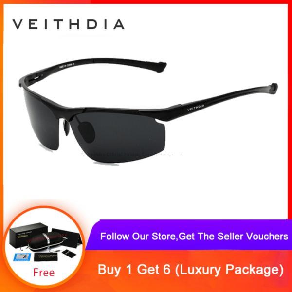 Mua VEITHDIA Aluminum Magnesium Rimless Mens Sunglasses Polarized Sun Glasses Eyewear Accessories For Men 6587