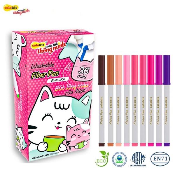 [BÁN SỈ] Bộ 36 màu Fiber Pen Colokit có chức năng rửa được