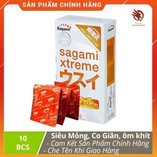 [ XẢ HÀNG ] - Bao cao su siêu mỏng, co giãn, ôm khít Sagami Xtreme Super Thin chính hãng - Hộp 10 chiếc thumbnail