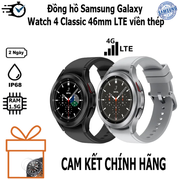 Đồng hồ Samsung Galaxy Watch 4 Classic 42mm & 46mm GPS- LTE viền thép - Xách tay nobox