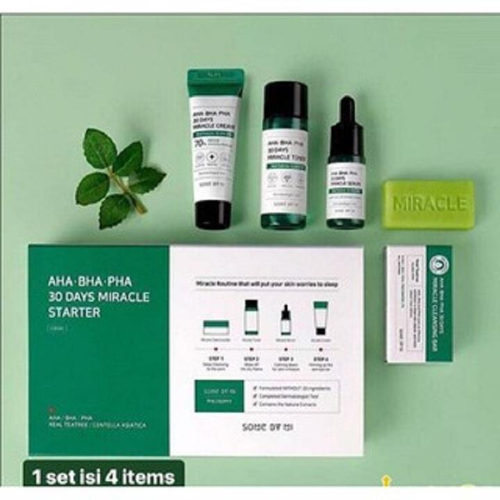 [SET ] Bộ Trị Mụn Some By Mi AHA- BHA-PHA 30 Days Miracle Set Mini 85g