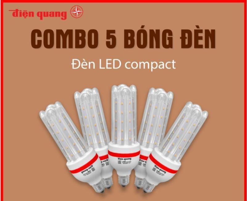 Combo 5 Đèn LED compact Điện Quang ĐQ LEDCP01 20765AW (20W, daylight, chống ẩm)