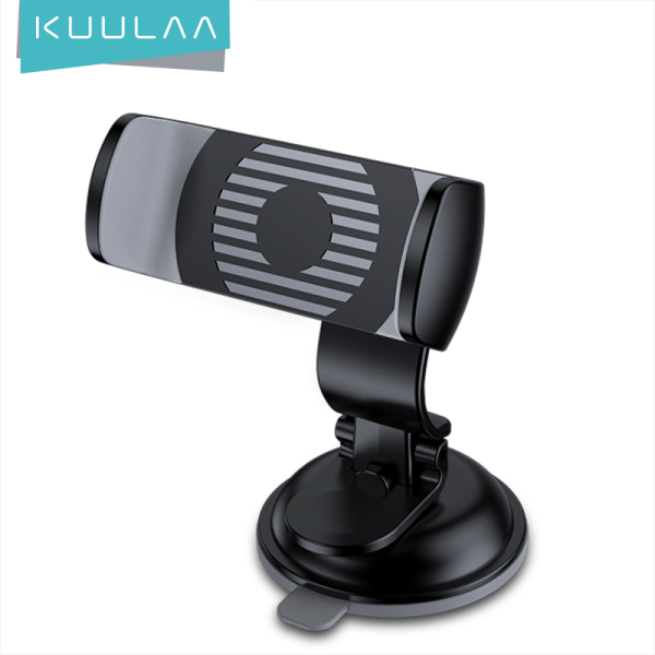 KUULAA Giá đỡ điện thoại xe hơi trong bảng điều khiển xe kính chắn gió Car Phone Holder Stand in Car Dashboard Windshild Cell Phone Holder Suction Cup for Iphone XR xs 11 pro max Samsung realme Huawei Samsung Xiaomi oppo vivo