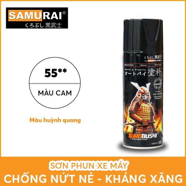 Chai sơn Samurai 55** màu cam huỳnh quang