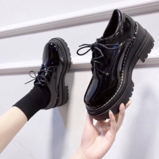 Giày bốt đốc độn đế da bóng kiểu dáng mới giá rẻ