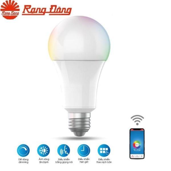 Bóng đèn smart led Rạng Đông 9W khiển bằng điện thoại qua Wifi