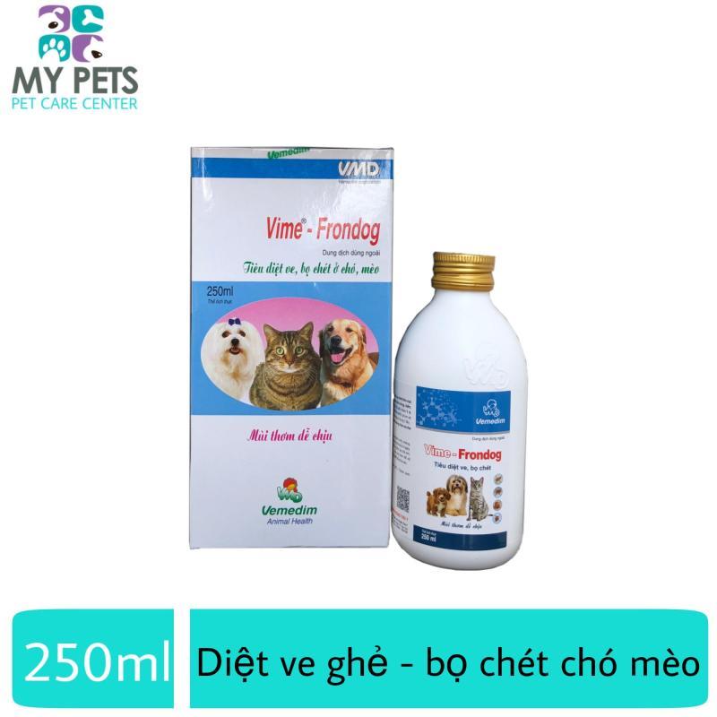 Thuốc xịt diệt ve ghẻ, bọ chét cho chó mèo - Vemedim Frondog 250ml