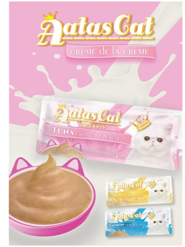 Sốt kem Aatas Cat Creamy vị gà/cá ngừ/cá hồi 16g